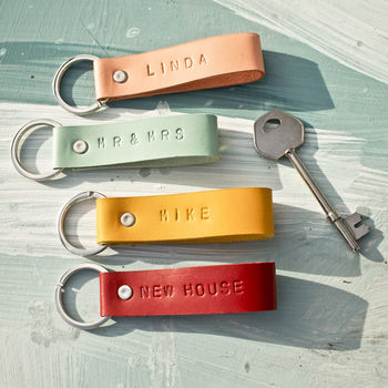Personalised Leather Keyrings