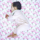 Fitted Cot Bedding Flamingo