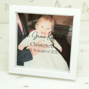 Personalised Christening Photo Box Frame