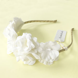 Bridesmaid Floral Ivory Crown - wedding fashion