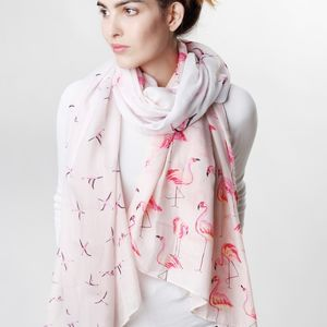 Pink Flamingo Scarf - gifts for her