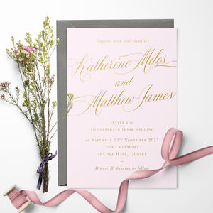 Romance Wedding Invitation - engagement & wedding invitations