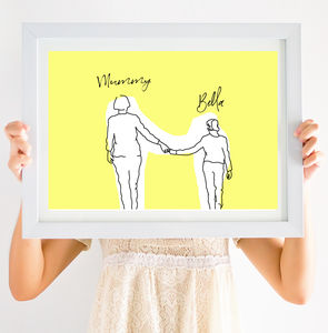 Mummy And Me Side By Side Print