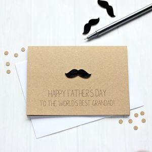 Personalised World's Best Grandad Father's Day Card