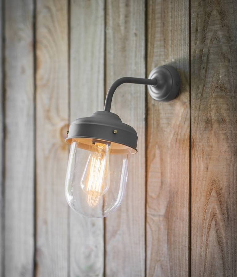Barn Light Charcoal: Large Barn Wall Light In Charcoal Grey By Garden