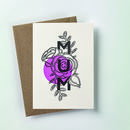 'Mum' Botanical Letterpress Card