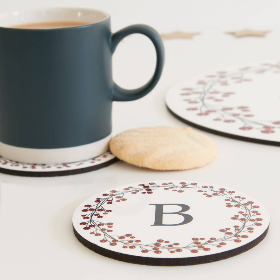 Personalised Initial Coaster