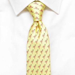 Mens Flamingo Silk Tie
