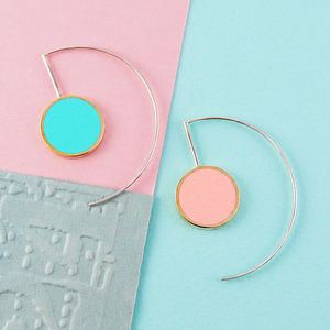 Pastel Double Sided Circle Gold/Silver Earrings