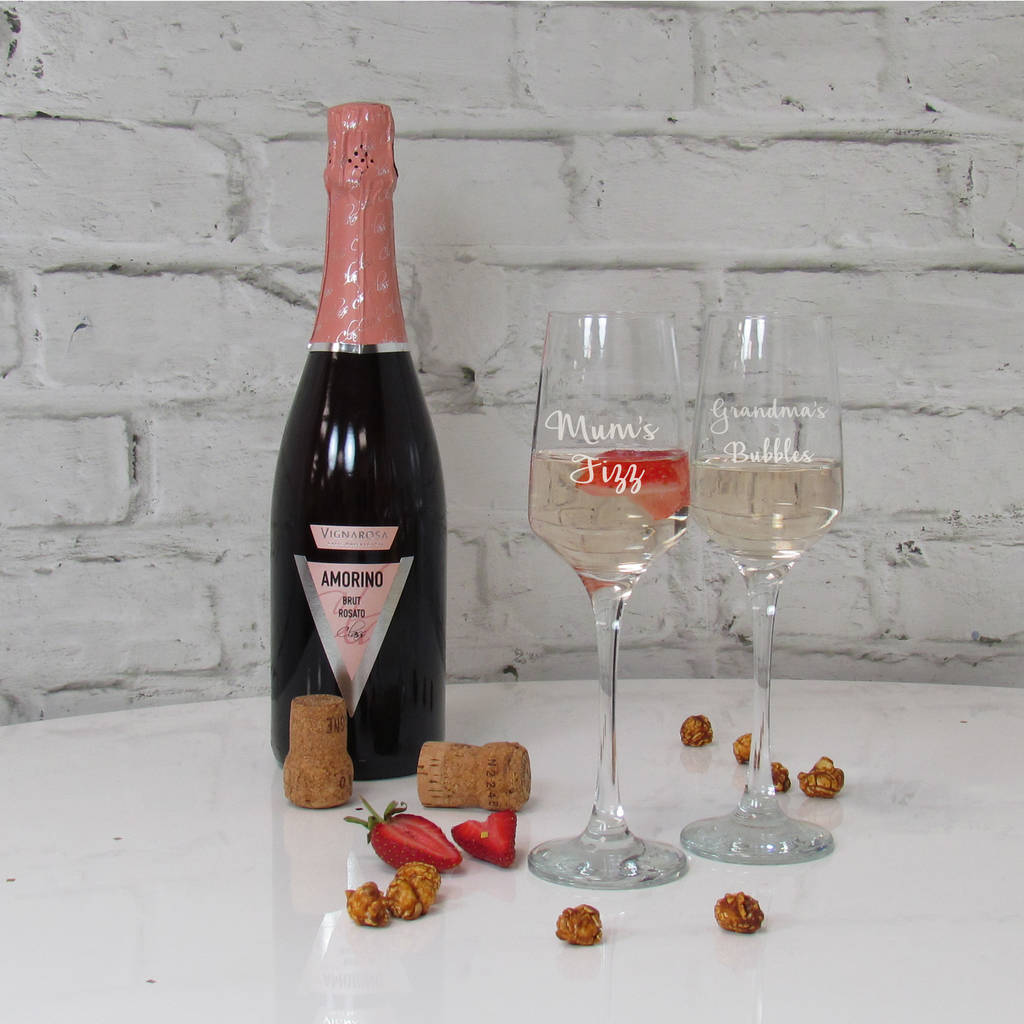 Mother's Day Prosecco Glass Mum's Fizz