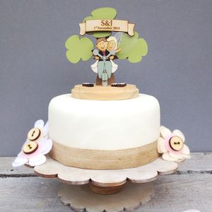 Personalised Scooter Wedding Cake Topper - cake decoration