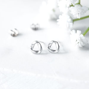 Sterling Silver Endless Studs
