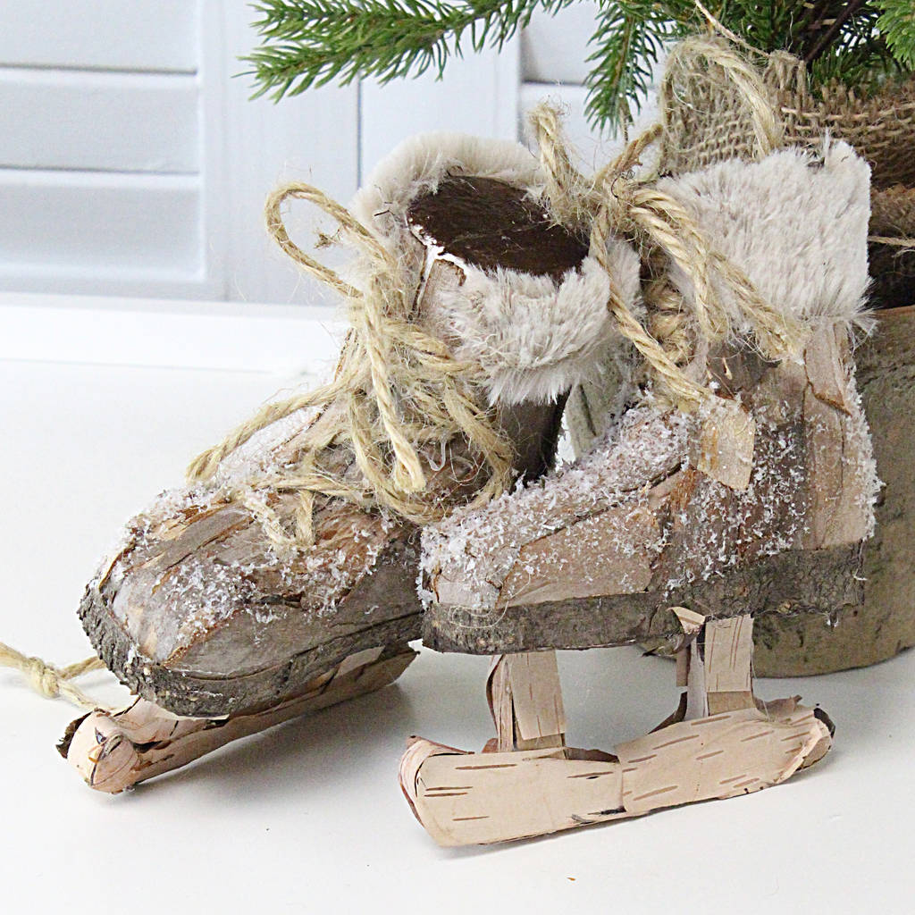 ice skates christmas decoration by marquis dawe