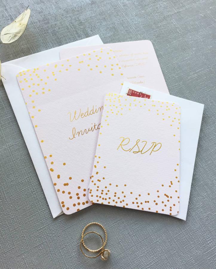 Èclat confetti wedding invitation collection by elinor rose studio ...