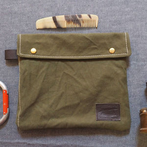 Washbag Recycled From 1940's Bivouac Tents - men's grooming & toiletries