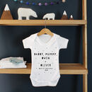 Our 'First Mother's Day 2021', Personalised Babygrow