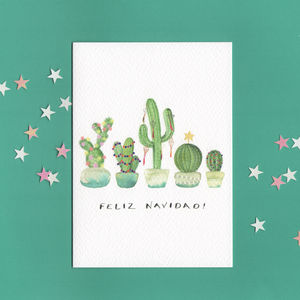 Christmas Cactus Card - new in christmas