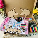Children's Wooden Hanging Unicorn Letterbox Craft Kit