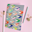 Bird Printed Notebook, Gift For Her