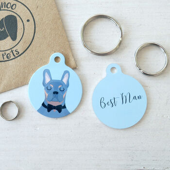 Best Man Dog Collar Tag