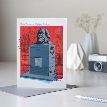 Marx Monument London Greetings Card