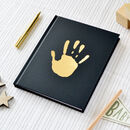 Foil Blocked Personalised Handprint Notebook