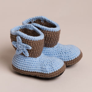 Hand Crochet Non Slippery Toddler Cowboy Boots - summer sale