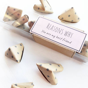 Origami 'Reasons Why You Are My Best Friend' - new in wedding styling