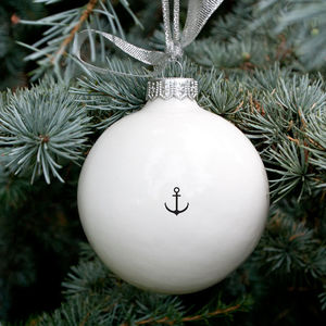 Anchor Bauble - tree decorations