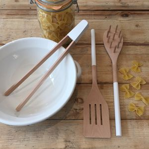 Beechwood Pasta Utensil Set - kitchen
