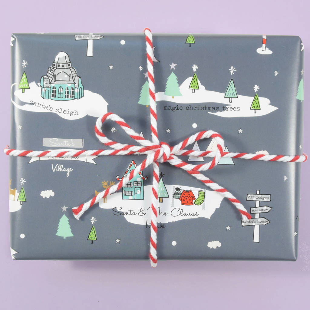 north pole christmas wrapping paper by paper and inc ...