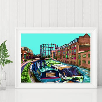 Regent's Canal East London Illustration Print