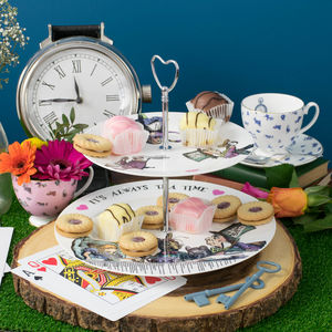 Alice In Wonderland 'It's Always Tea Time' Cake Stand