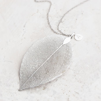 Caitlan Personalised Leaf Pendant Necklace