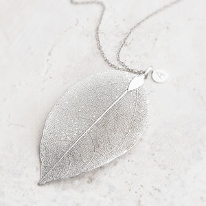Caitlan Personalised Leaf Pendant Necklace - 40th birthday gifts