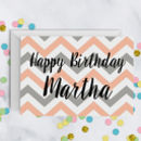 Chevron Stripe Birthday Card A5