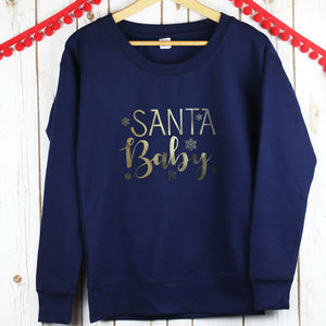 Ladies Santa Baby Christmas Jumper
