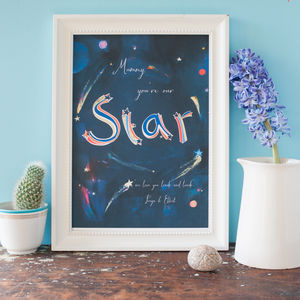 Mummy You're Our Star Print For A Mother - posters & prints