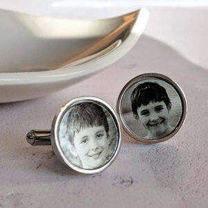 Personalised Photo Stainless Steel Cufflinks