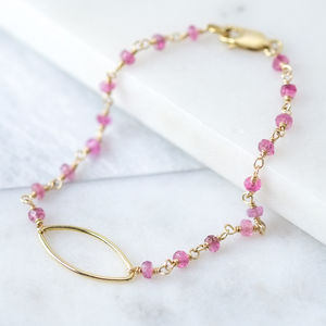 Pink Tourmaline Bridesmaid Bracelet