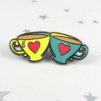 Teacups Enamel Pin Badge