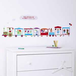 Personalised Children's Circus Train Wall Sticker