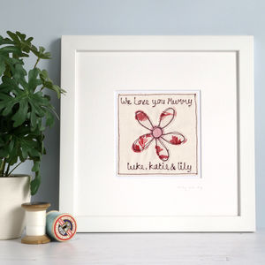Personalised Flower Picture - children's pictures & paintings