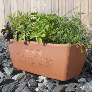 Engraved Message Terracotta Planter - gifts for him