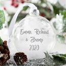 Personalised Love From Bump Christmas Bauble