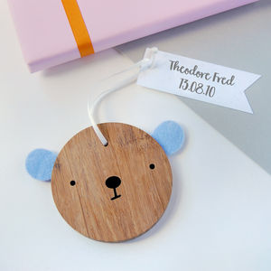 New Baby Personalised Bear Keepsake