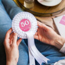 50th Birthday Personalised Rosette For Her