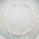 Silver Beaded Strand Necklace