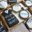Personalised Groomsmen Proposal Hand Iced Cookie Gift