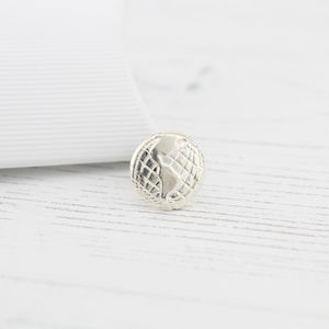 Sterling Silver Globe Tie Pin - men's accessories